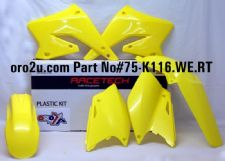 New RMZ 250 04-06 Racetech Plastic Kit Motocross Plastics Yellow